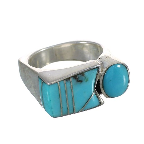 Authentic Sterling Silver Southwestern Jewelry Turquoise Ring Size 4-1/2 AX90623