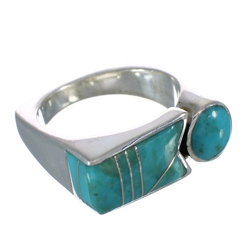 Turquoise Sterling Silver Ring Size 6 AX90655