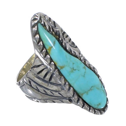 Genuine Sterling Silver Turquoise Jewelry Ring Size 4-3/4 FX93282