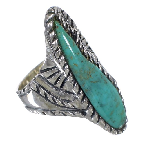 Sterling Silver Turquoise Southwest Jewelry Ring Size 6 FX93321
