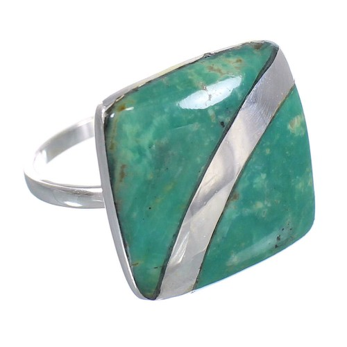 Turquoise Sterling Silver Southwest Jewelry Ring Size 7-1/2 RX88663