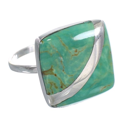 Turquoise Sterling Silver Southwest Jewelry Ring Size 8 RX88717