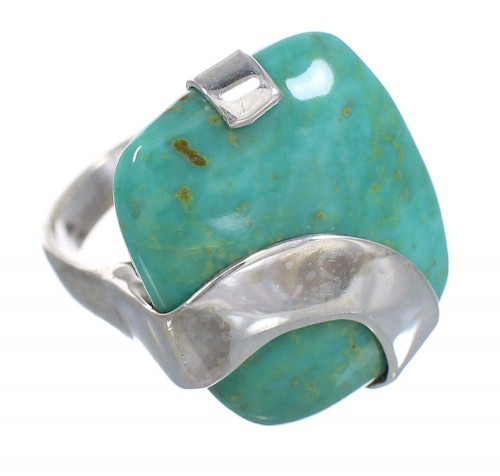 Turquoise Authentic Sterling Silver Ring Size 4-1/2 RX88737