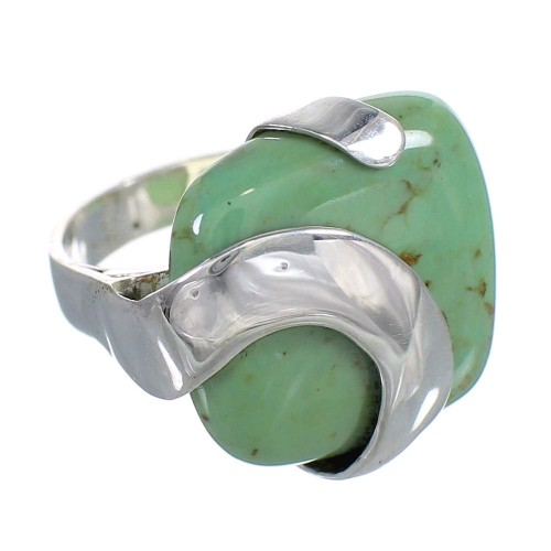 Southwestern Sterling Silver And Turquoise Jewelry Ring Size 4-1/2 RX88776