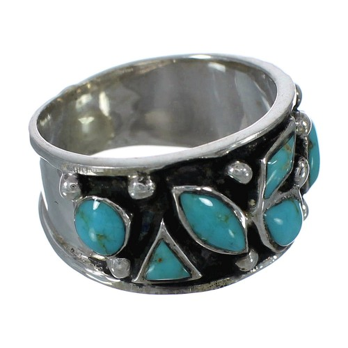 Authentic Sterling Silver Turquoise Jewelry Ring Size 4-1/2 FX91333