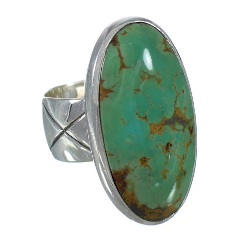 Turquoise Genuine Sterling Silver Southwest Ring Size 4-1/2  AX92616