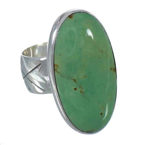 Turquoise Sterling Silver Ring Size 6-1/2 AX92694