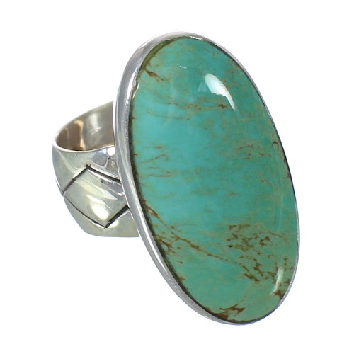Turquoise Southwestern Jewelry Sterling Silver Ring Size 5-1/2 AX92704