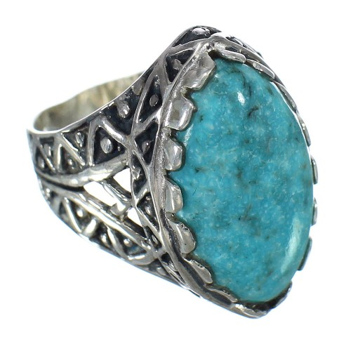 Authentic Sterling Silver Turquoise Southwest Ring Size 7-3/4 FX93390