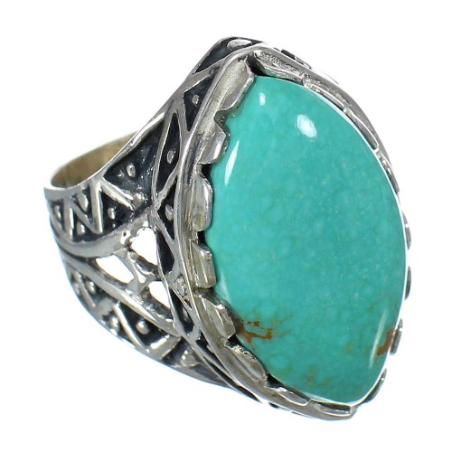 Sterling Silver Turquoise Southwest Ring Size 7-1/4 FX93421