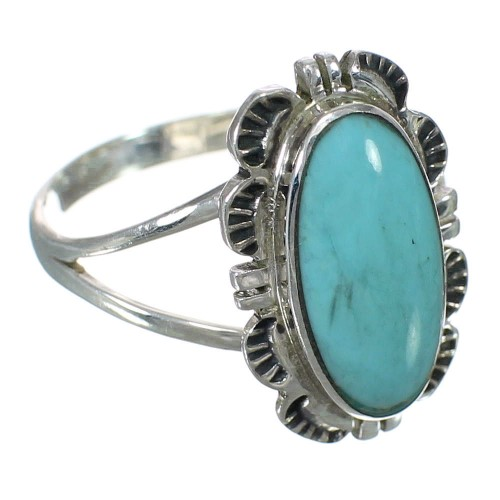 Turquoise Sterling Silver Ring Size 6-1/2 RX92817