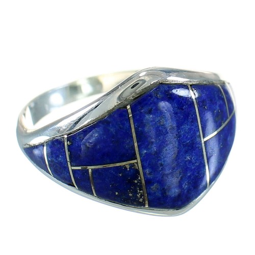 Lapis Authentic Sterling Silver Southwestern Ring Size 8-1/2 YX87737