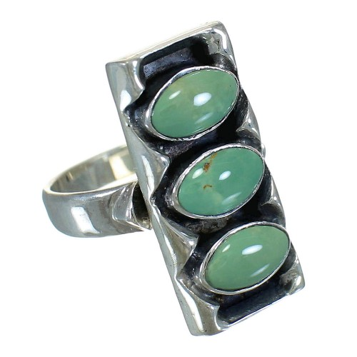 Sterling Silver And Turquoise Ring Size 5-1/4 FX90382