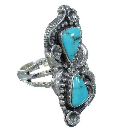 Turquoise Sterling Silver Ring Size 5-1/4 AX89259