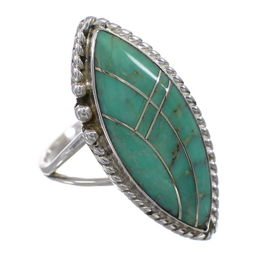 Turquoise Sterling Silver Southwest Ring Size 6-1/2 AX88606