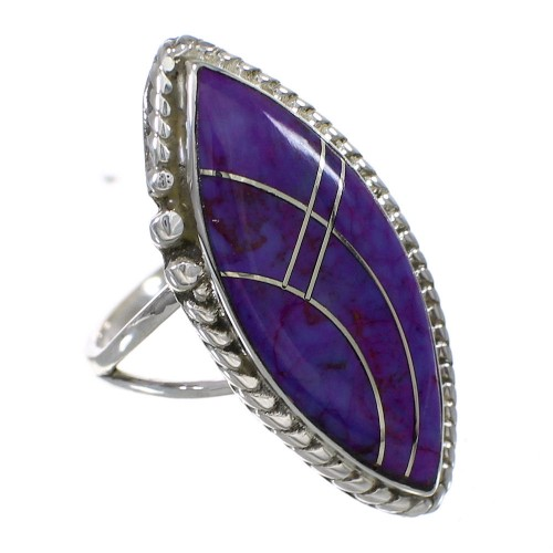 Silver Magenta Turquoise Southwest Ring Size 6-3/4 YX87852