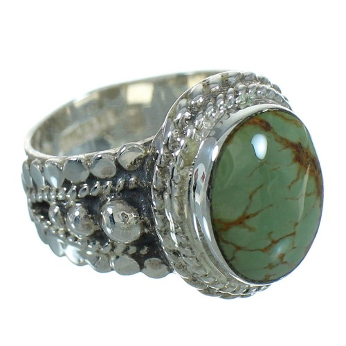 Southwestern Turquoise Sterling Silver Jewelry Ring Size 5 RX87577