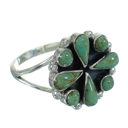 Turquoise Authentic Sterling Silver Ring Size 5-3/4 YX86940
