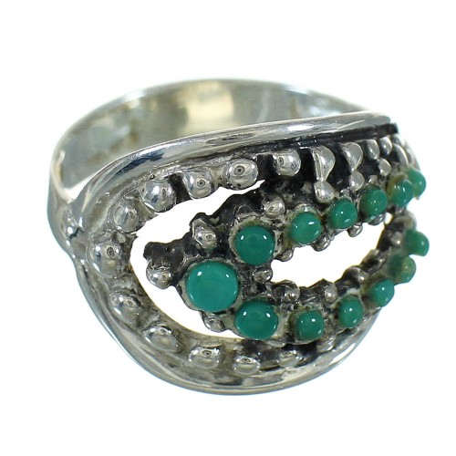 Southwestern Turquoise Authentic Sterling Silver Jewelry Ring Size 6-1/2 YX87219