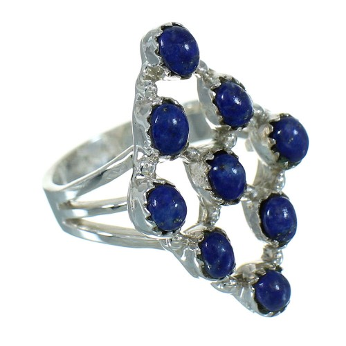 Genuine Sterling Silver Lapis Ring Size 4-1/2 AX89690