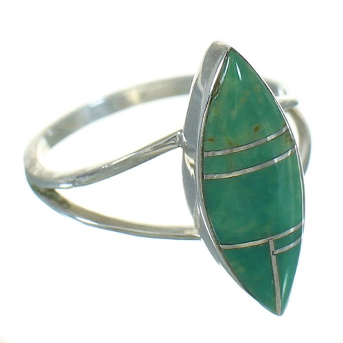 Silver Turquoise Ring Size 5-1/4 AX89105