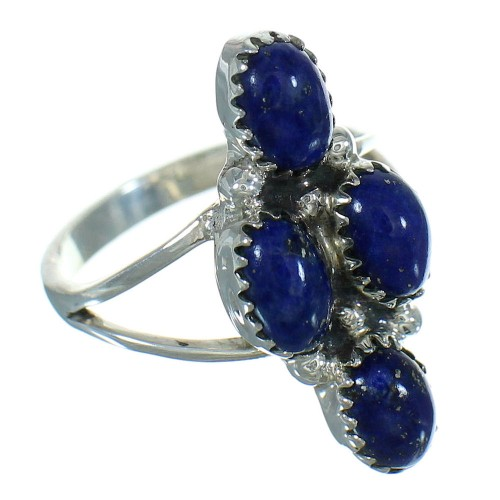 Lapis Silver Southwestern Ring Size 7-3/4 AX88372