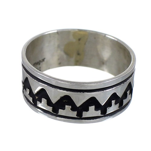 Navajo Indian Genuine Sterling Silver Tommy And Rose Singer Ring Size 6-3/4 YX93785