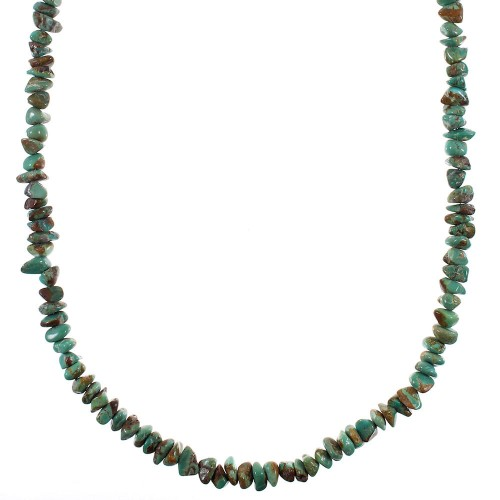 Sterling Silver Turquoise Southwestern Bead Necklace AX93843