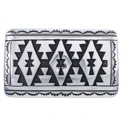 Thomas And Rosita Singer Sterling Silver American Indian Belt Buckle RX93940