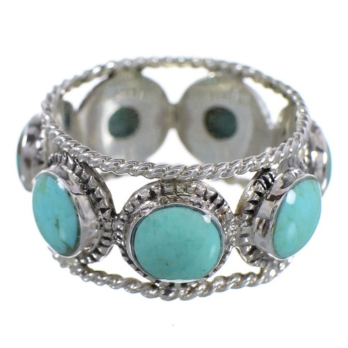 Turquoise Sterling Silver Southwest Ring Size 7-1/4 YX93990