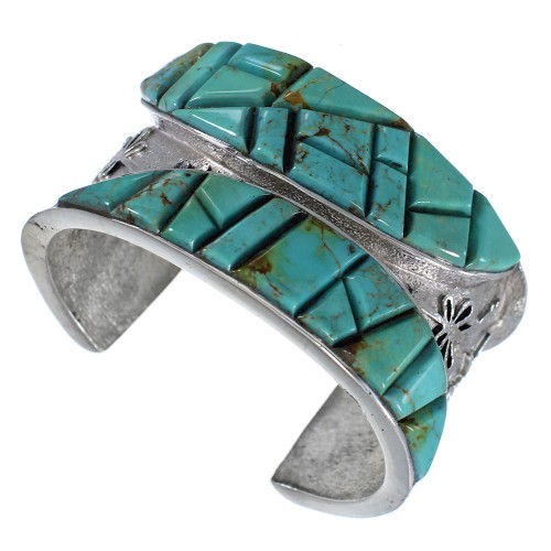 Turquoise Southwest Dragonfly Sterling Silver Cuff Bracelet MX27131