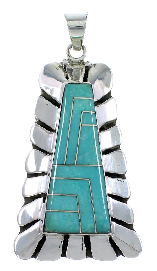 Sterling Silver Turquoise Slide Pendant OS58515
