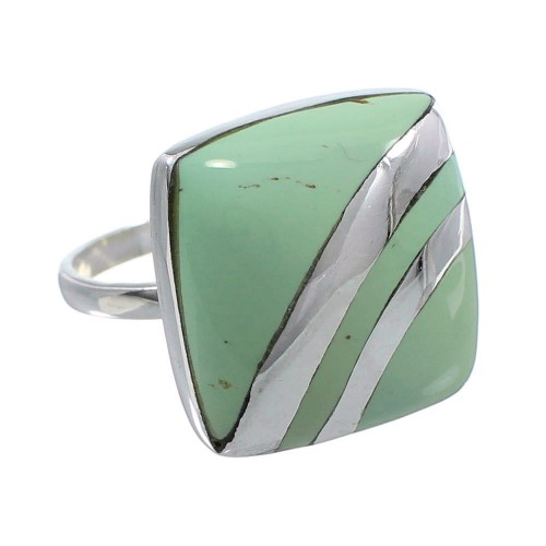 Turquoise Genuine Sterling Silver Jewelry Ring Size 8-1/2 BW64368