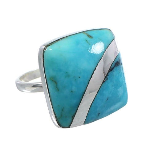 Sterling Silver Turquoise Ring Size 6-1/2 MW63771