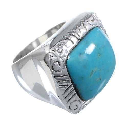Southwest Sterling Silver Turquoise Jewelry Ring Size 6-1/4 YS63284