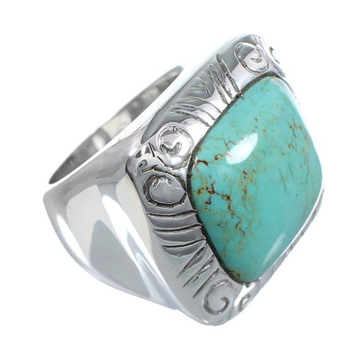 Turquoise Silver Southwest Jewelry Ring Size 5 YS63243