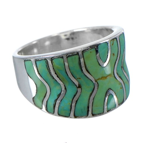 Turquoise And Silver Southwest Ring Size 4-3/4 CW63699