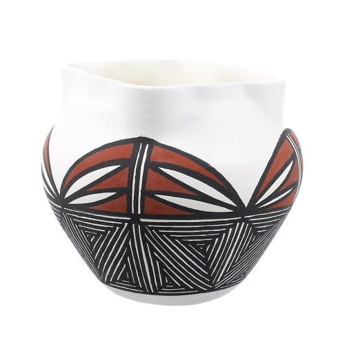 Native American Hand Crafted Pot By Acoma Artist Zelda Garcia YX97461
