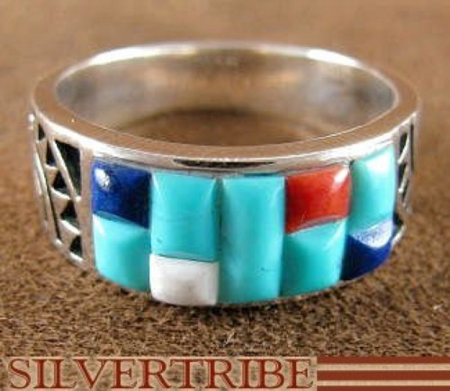 Multicolor Genuine Sterling Silver Ring Size 5-1/2 AS27755