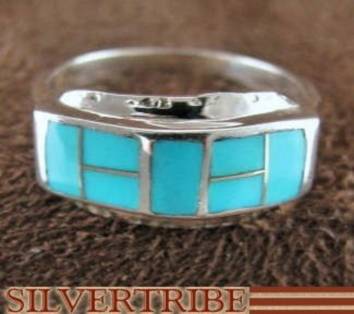Turquoise Genuine Sterling Silver Ring Size 6-1/2 RS33728