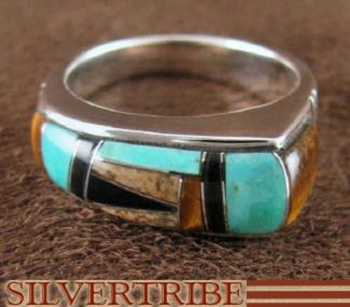 Silver Tiger Eye Multicolor Jewelry Ring Size 6-1/2 Jewelry RS44496