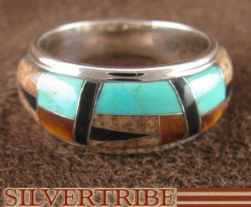 Multicolor Genuine Sterling Silver Jewelry Ring Size 7-1/4 AS39420
