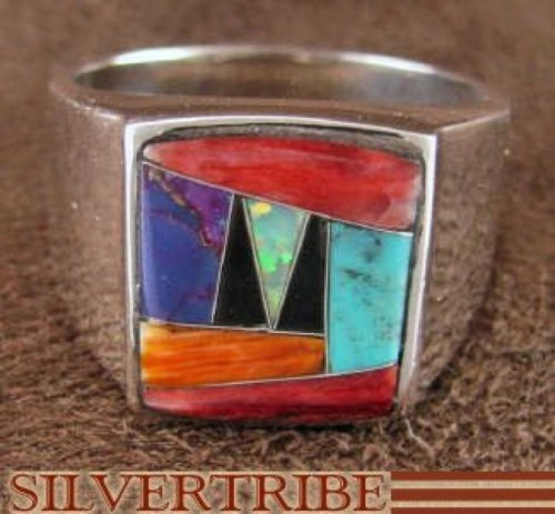 Multicolor Jewelry And Sterling Silver Ring Size 11-3/4 DS42965