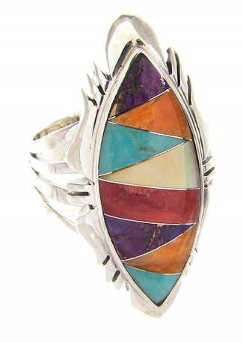 Authentic Sterling Silver Ring Size 5-3/4 Multicolor Jewelry GS58873