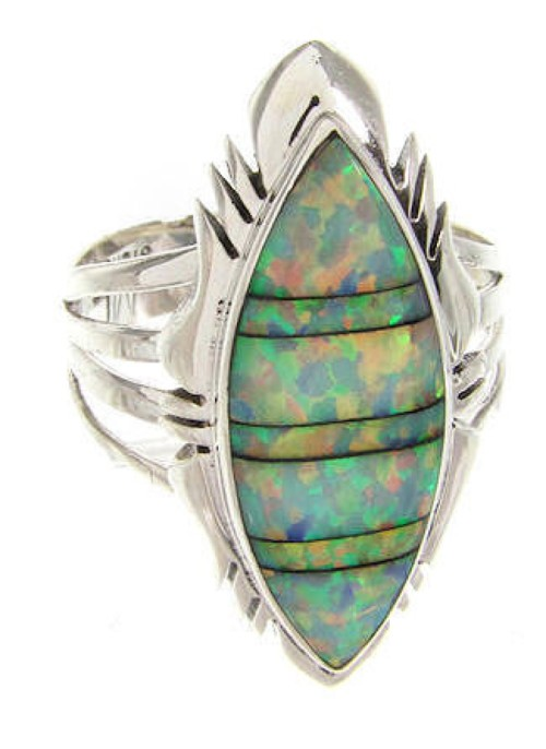 Opal And Sterling Silver Southwest Ring Size 6-1/2 GS58728