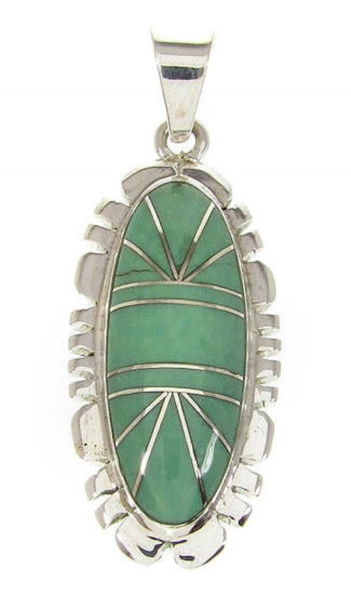 Turquoise Southwestern Sterling Silver Pendant PS58972