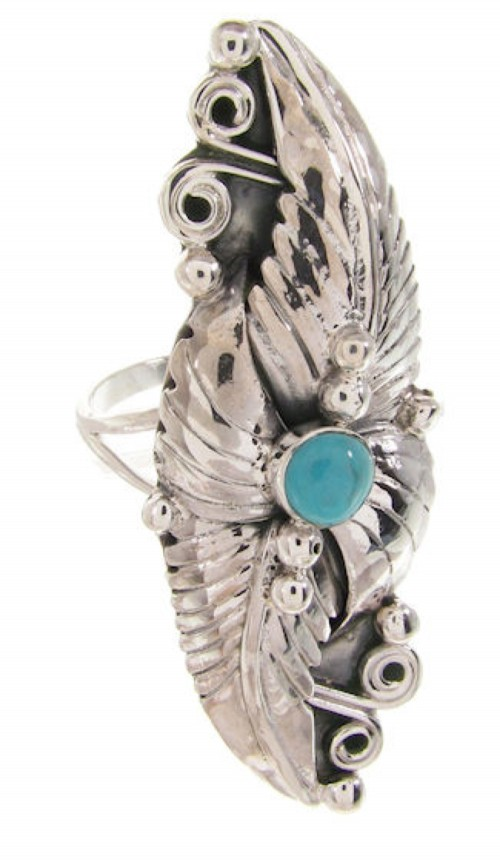 Turquoise Southwest Sterling Silver Ring Size 6-1/2 VS60940