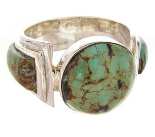 Turquoise and Sterling Silver Southwestern Ring Size 5-3/4 PS62572