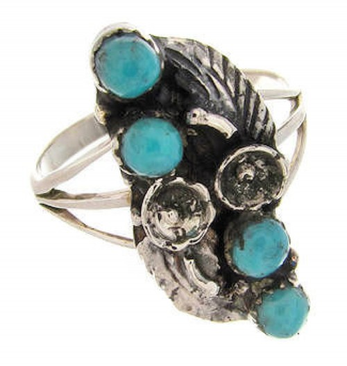 Turquoise Jewelry Sterling Silver Ring Size 5-3/4 YS60674