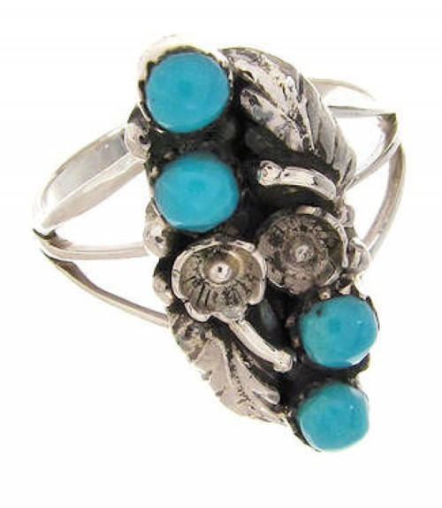 Turquoise Jewelry Silver Southwest Ring Size 6-3/4 YS60702